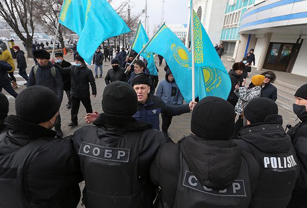 Митинг оппозиции в День независимости в Алма-Ате, 16 декабря 2020 года