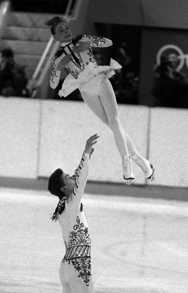 Олимпийские игры 1988 г. Екатерина Гордеева и Сергей Гриньков