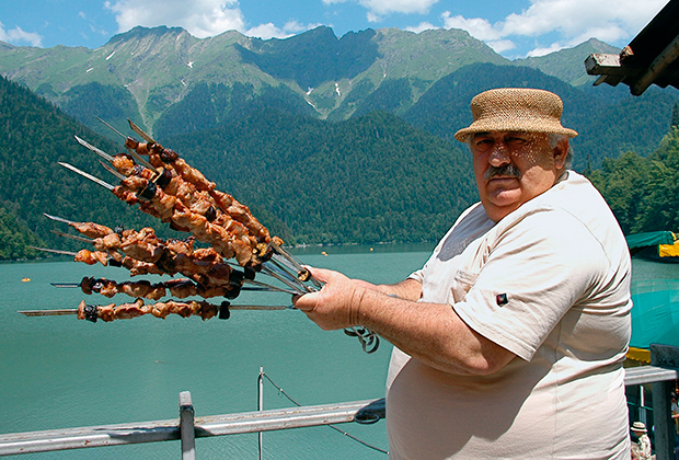 At the resorts of Abkhazia