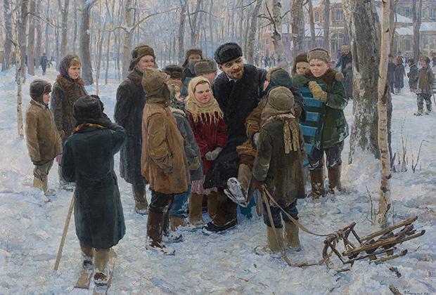 Картина А.Г. Варламова «В.И. Ленин с детворой»