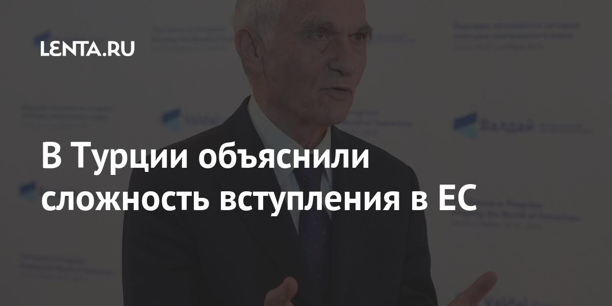 В Турции объяснили сложность вступления в ЕС Политика Мир: Lenta.ru