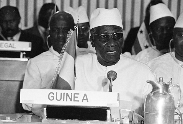 Первый президент независимой Гвинеи Ахмед Секу Туре, 1983 год