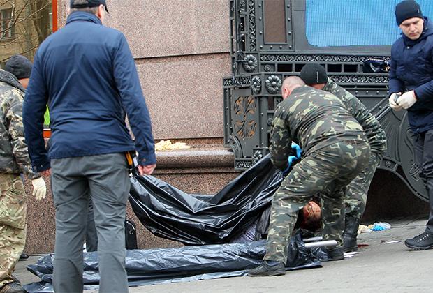 Место убийства Дениса Вороненкова в Киеве