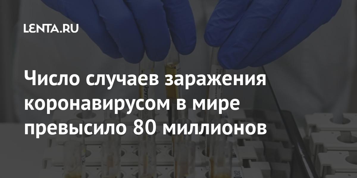 Число случаев заражения коронавирусов в мире превысило 80000000: Общество: Мир: Lenta.ru