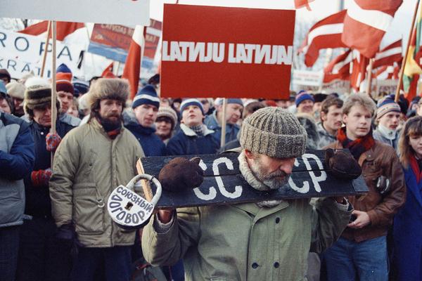 Манифестация в Риге, 1991 год