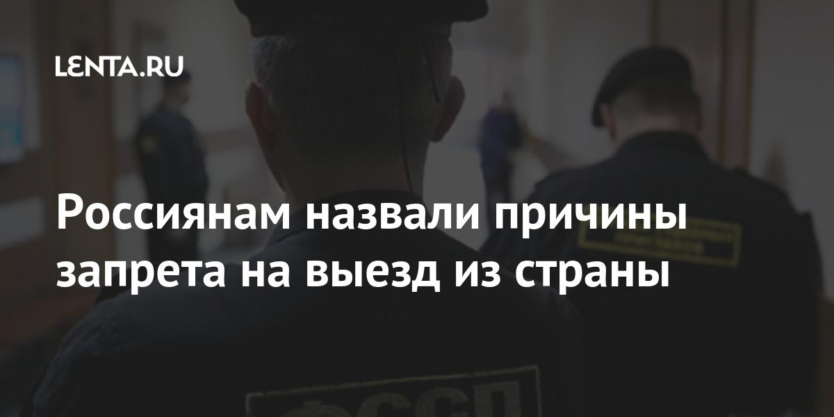 Россиянам назвали причины запрета на выезд из страны: Общество: Россия: Lenta.ru