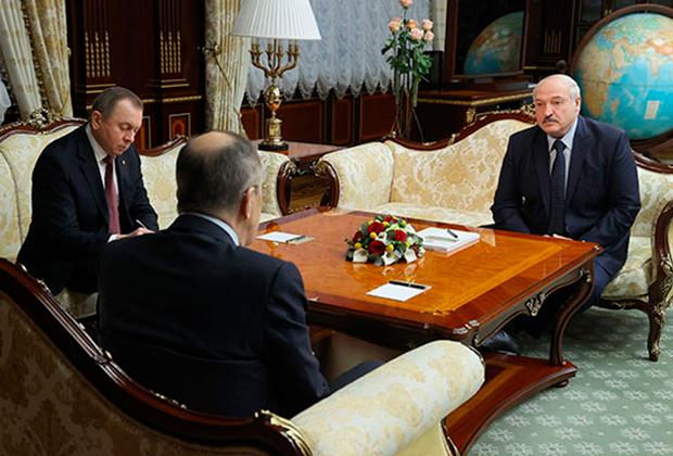 Встреча с министром иностранных дел России Сергеем Лавровым
