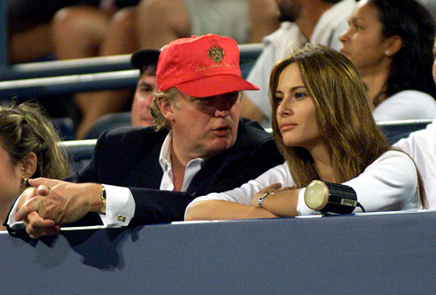 Дональд Трамп и Мелания Кнавс в 1999 году