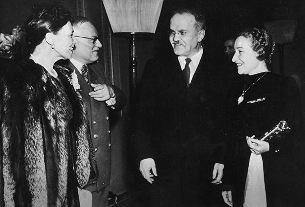 Молотов с супругой Полиной на Конференции министров иностранных дел в Москве