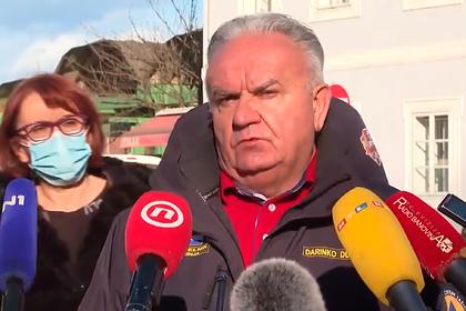 Появилось видео прервавшего интервью хорватского мэра мощного землетрясения