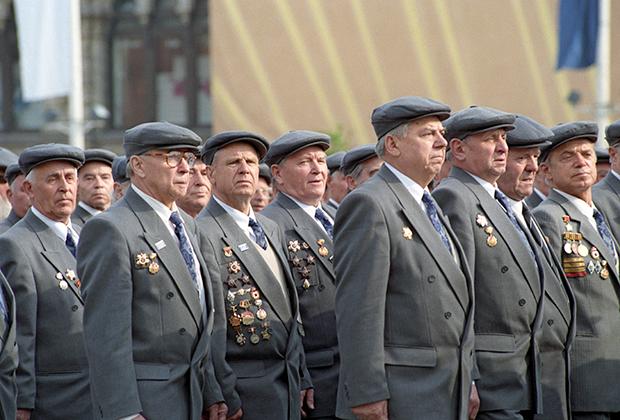 Парад ветеранов войны на Красной площади, 1995 год