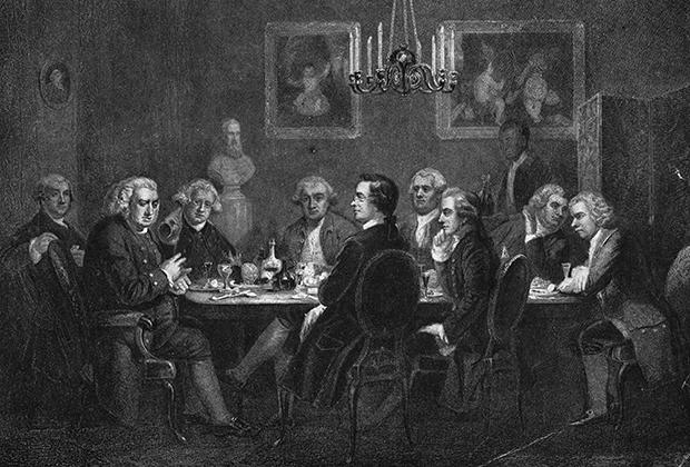 Собрание джентльменского литературного клуба, Лондон, 1781 год