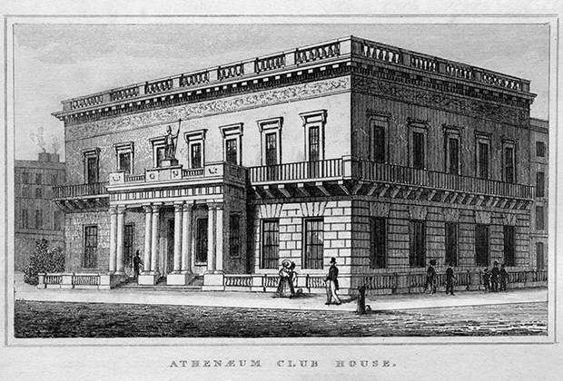 Здание клуба Athenaeum, Лондон, 1835 год