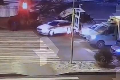В Петербурге произошла авария с участием кареты с лошадьми