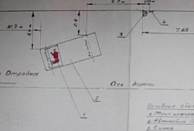 Схема места убийства инкассаторов из Вилино