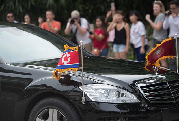 Кортеж Ким Чен Ына в Сингапуре