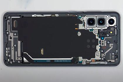 Показаны внутренности Samsung GalaxyS21