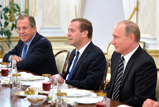 Владимир Путин, Дмитрий Медведев, Сергей Лавров
