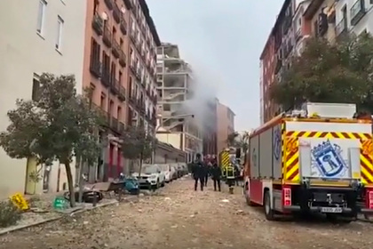 При взрыве в Мадриде погибли люди