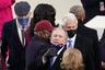 На церемонии присутствовали бывшие президенты США Билл Клинтон, Джордж Буш-младший и Барак Обама с женами. Приехал в Капитолий и вице-президент США Майк Пенс. В то же время Дональд Трамп на инаугурации присутствовать отказался, нарушив тем самым 150-летнюю традицию. Байден назвал решение предшественника не посещать мероприятие хорошим.