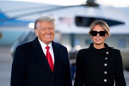 Раскрыта цена наряда Мелании Трамп на последнем рейсе в качестве первой леди