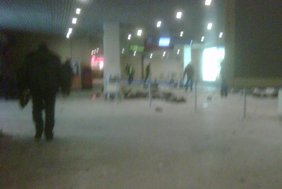 Зал прилета аэропорта Домодедово после взрыва