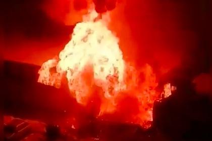 Взрыв в Краснодаре попал на видео