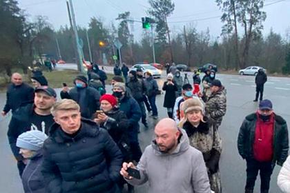 Участники «тарифного майдана» осадили госдачу Зеленского