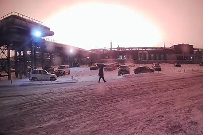 Мощный взрыв на российском заводе в попал на видео