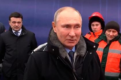 Путин открыл транспортную развязку в Химках
