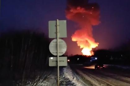 Взрыв на российском пороховом заводе попал на видео