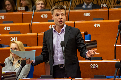 Депутат Рады нахамил вице-спикеру Госдумы в ПАСЕ