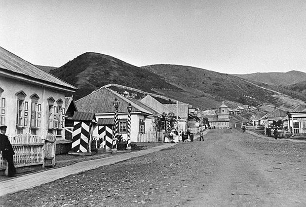 Пост Дуэ на острове Сахалин в конце XIX века