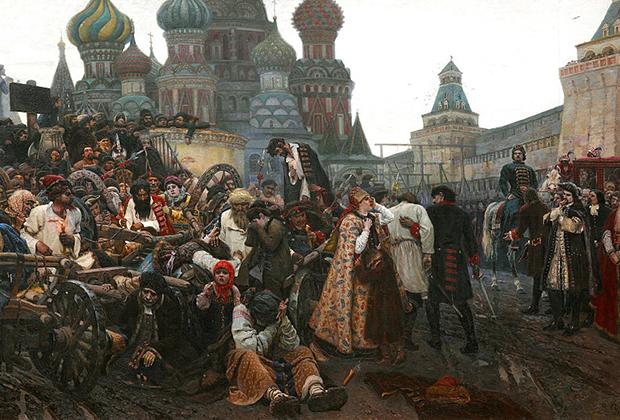 Фрагмент картины «Утро стрелецкой казни», 1881 год