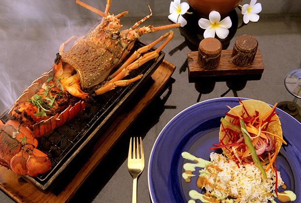 Национальная мальдивская кухня в отеле Four Sesons Resort