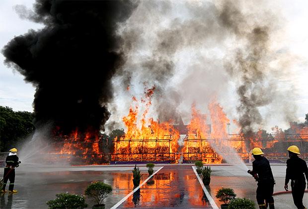 Сожжение наркотиков стоимостью 839 миллионов долларов в Янгоне, Мьянма, 2020 год