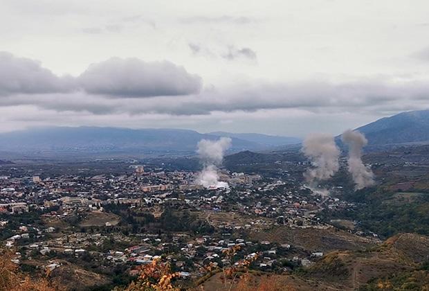 Вид на Степанакерт, 4 октября