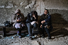 Жительницы города Шуша в подвале во время воздушной тревоги