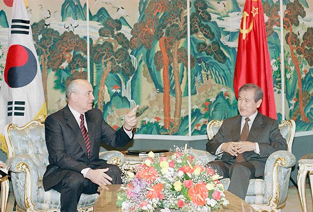 Встреча Горбачева и Ро Тхэ У на острове Чеджудо 19 апреля 1991 года