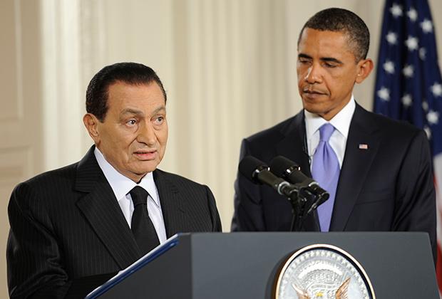 Президент Египта Хосни Мубарак и его американский коллега Барак Обама
