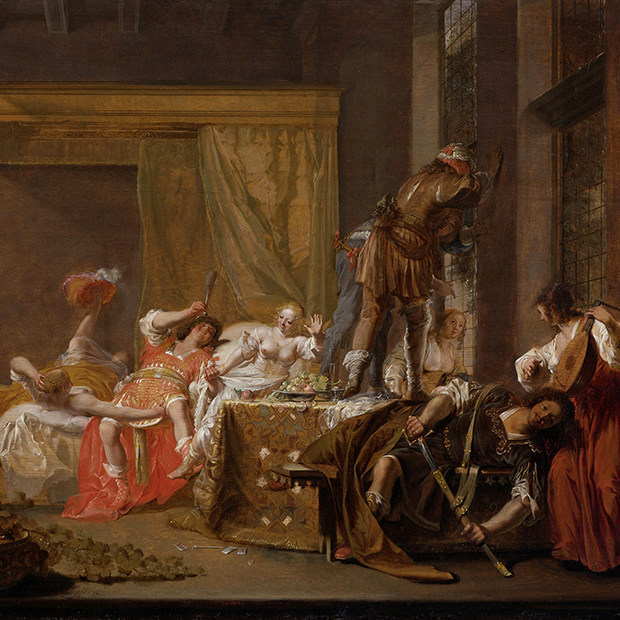 Картина «Компания в борделе» 1655 года художника Николауса Кнюпфера