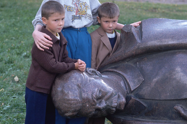 The disrepair of statues of Soviet leaders such as Lenin and Stalin echo the reality of the fall of the Soviet Union.   (Photo by