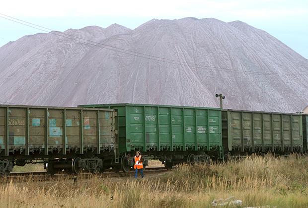 В районе шахты «Беларуськалия»