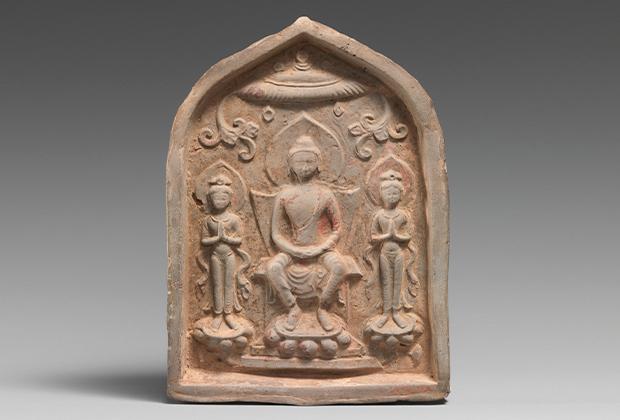 Обетная табличка с буддийской триадой. VII век, Китай