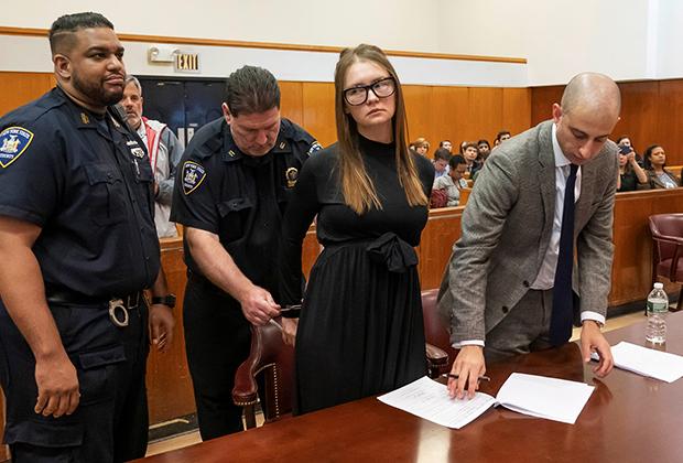 Анна Делви во время судебного разбирательства в мае 2019 года