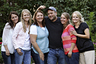 Brady Williams poses with his wives, from left to right, Paulie, Robyn, Rosemary, Nonie, and Rhonda, outside of their home in a polygamous community outside Salt Lake City. Rosemary Williams says she was molested more than two decades ago by her father, Lynn A. Thompson. He is the leader of the one of largest organized polygamy groups in Utah, the Apostolic United Brethren, or AUB