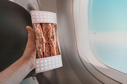 Россияне назвали лучшую еду для перекуса в самолете