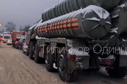ДТП с ракетной установкой и четырьмя машинами под Москвой попало на видео