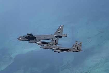 США применили два F-15 при ударе по Сирии