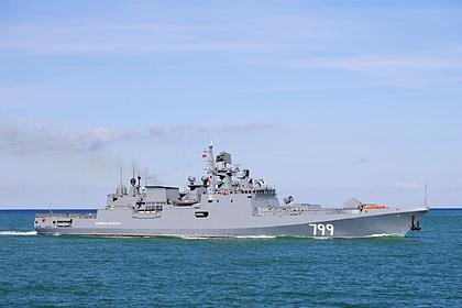 Российский военный корабль впервые вошел в порт Судана